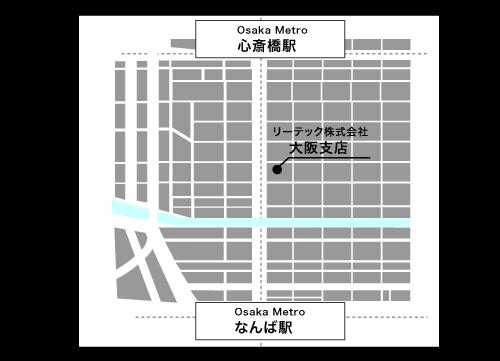 OSAKAアクセスマップ